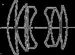 Konica Hexanon AR 52mm f/1.8 Diagram