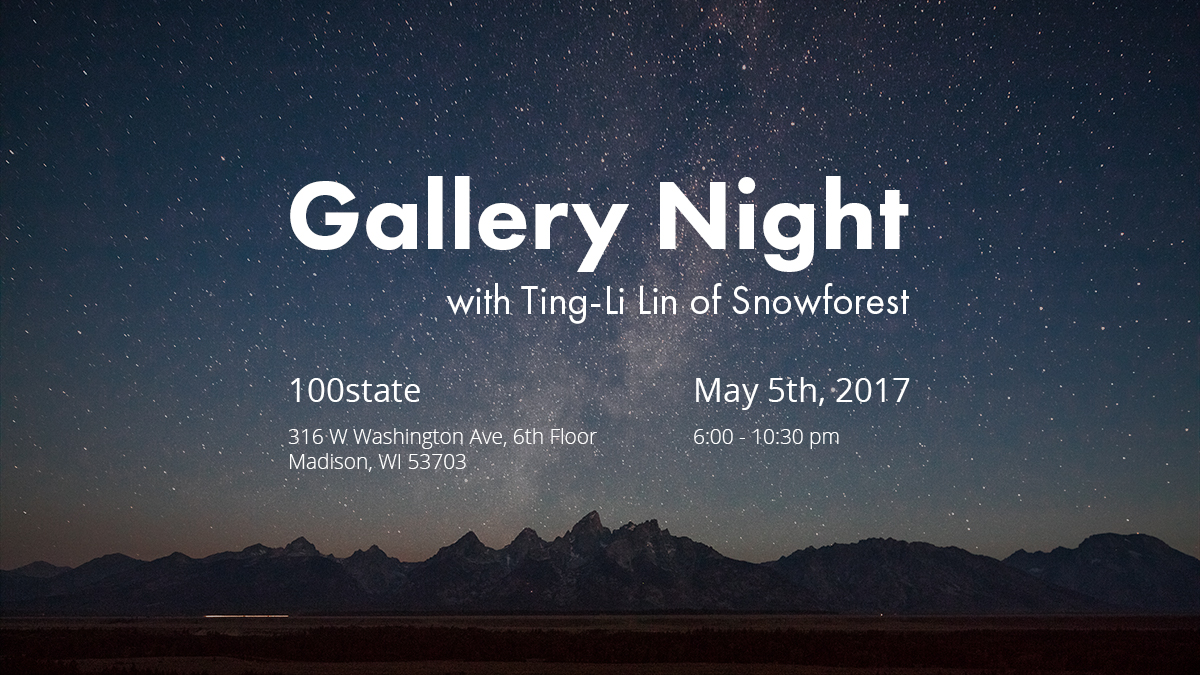 Gallery Night Spring 2017 with Ting-Li Lin of Snowforest
