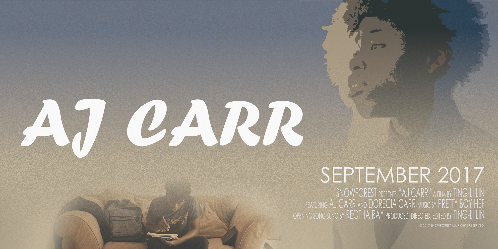 AJ CARR Movie Poster Horizontal
